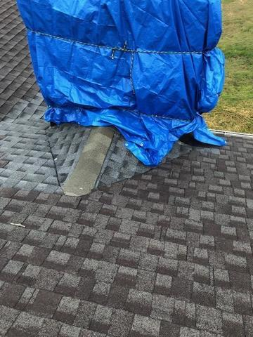 Chimney Cap and Flashing, Goodlettsville - Before Photo