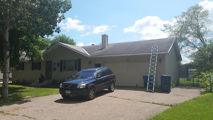 Roof Replacement and Siding Repair in Farmington, MN - Before Photo