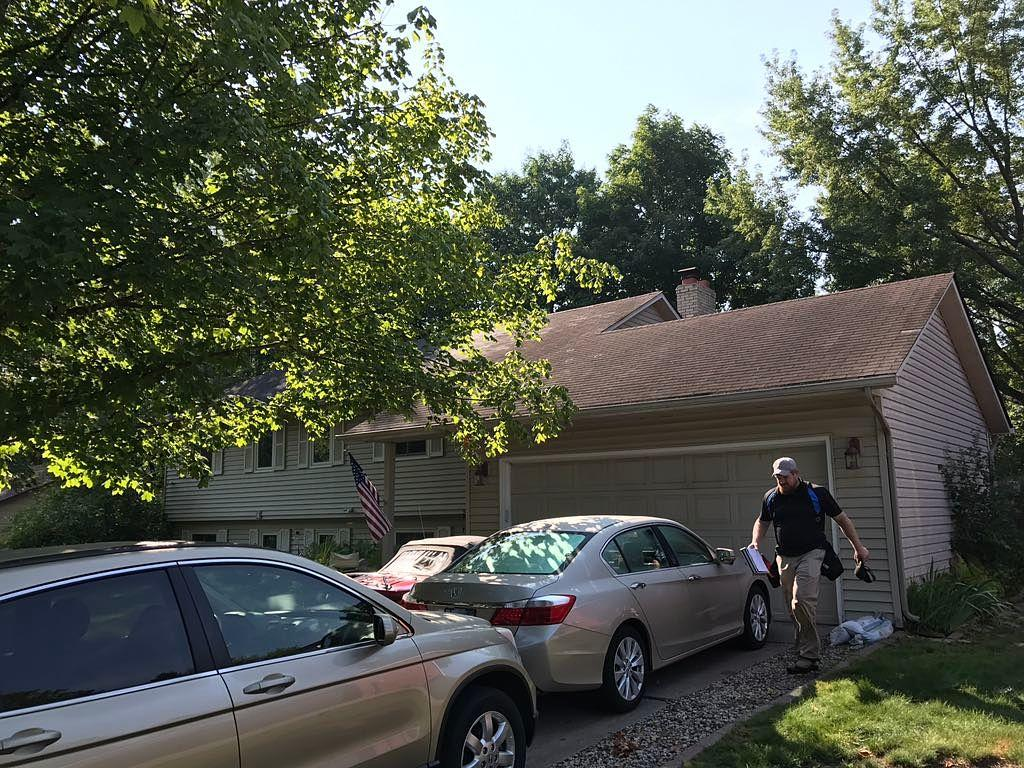 Stillwater, MN Hail Damage | Roof Replacement - Before Photo
