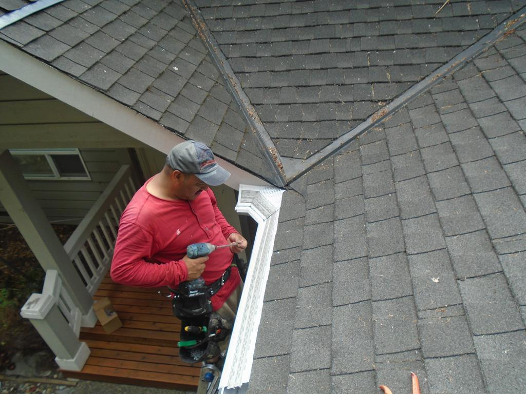 Leaf Guard Installation in Sammamish - After Photo