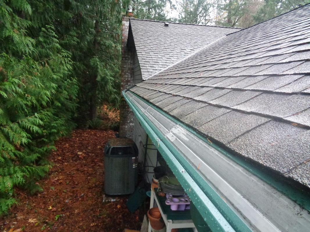 Anacortes, WA area home has full gutters protection installed - After Photo