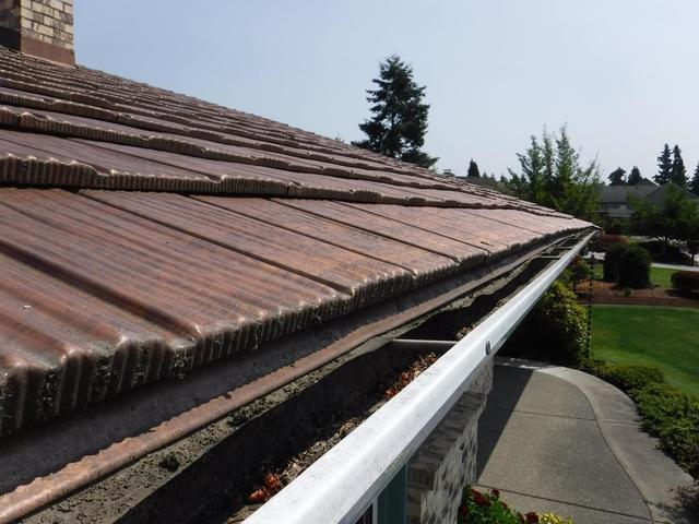Interlock Metal Roof Gutter Guard Installed in Puyallup, WA