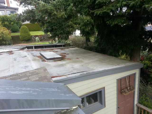 Gutter Guard Installed on Low Slope Torchdown Roof in Tacoma, WA