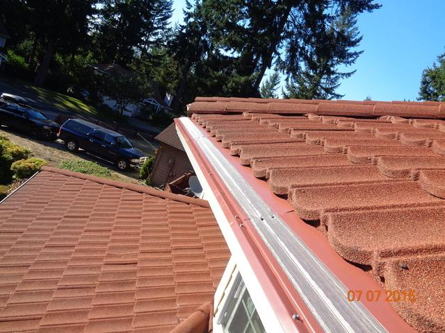 Silverdale, WA Tiled Roof Gets Gutter System Installed