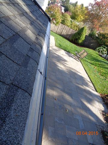 Shingles Repaired Before new gutters and MasterShield are installed in University Place, WA