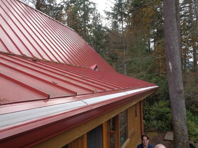 Gutter Protection System Installed on Metal Roof in Monroe, WA