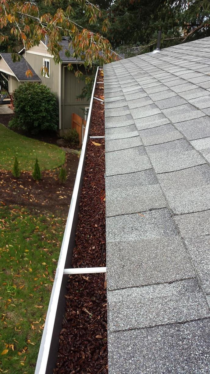 Pine Guard Gutter Protection in Sherwood - Before Photo
