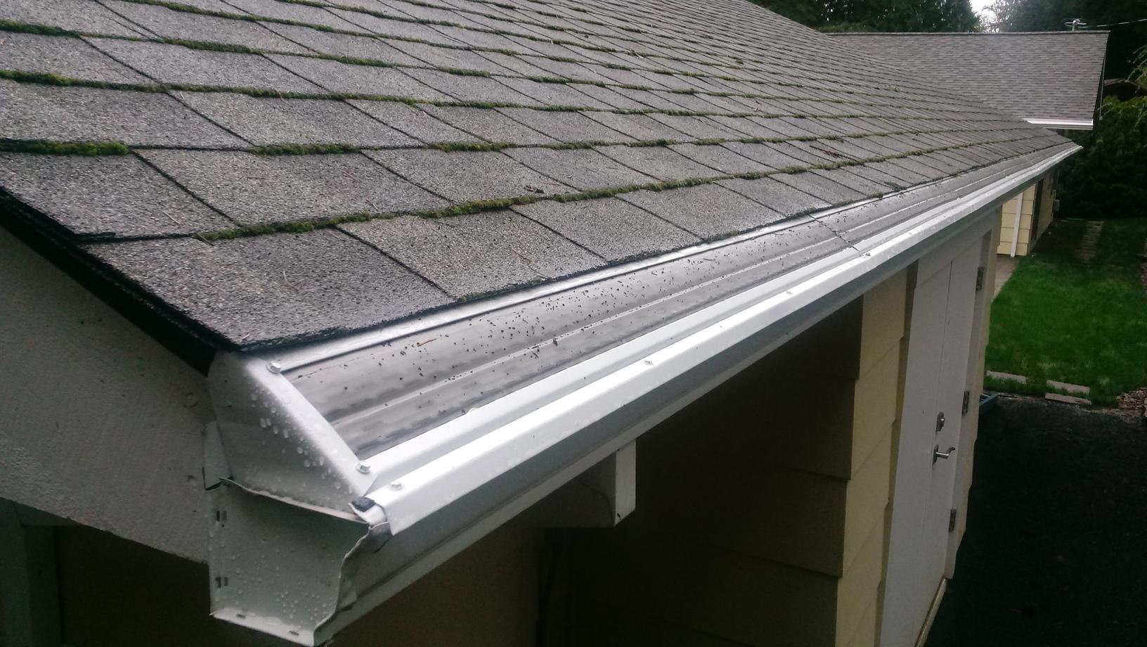 Clogged Gutters in Portland, OR - After Photo