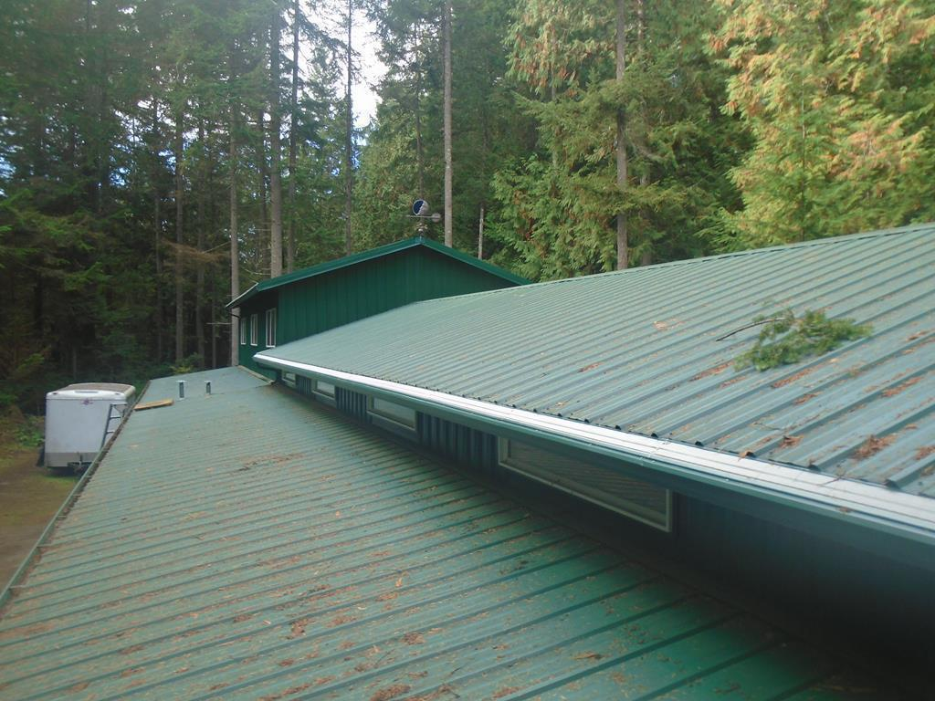 Metal Roof and open gutters inundated with evergreen needles in Oregon City, OR - After Photo