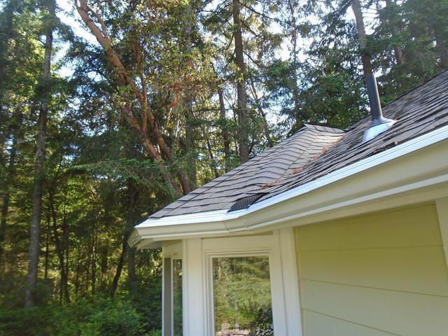 New construction in Beaverton, OR gets some fancy new gutters and MasterShield! - After Photo