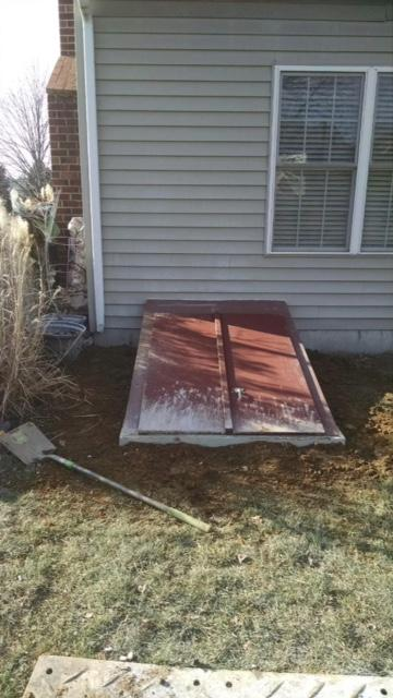 84 inch precast window well egress in Chester Springs, PA - After Photo