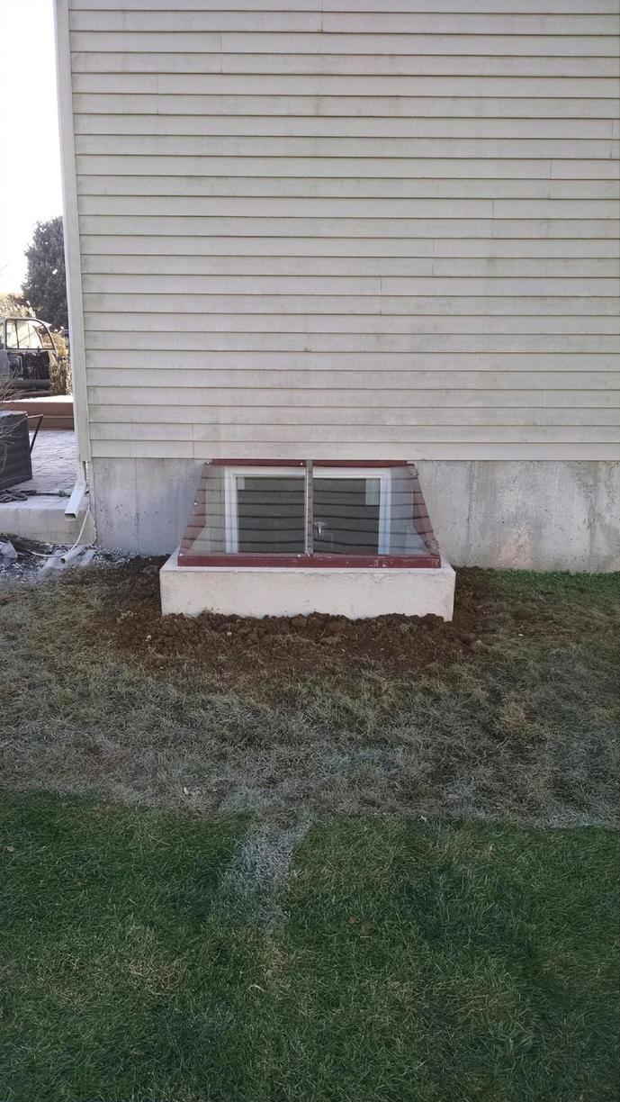 Egress window installation in Chester Springs, PA - After Photo