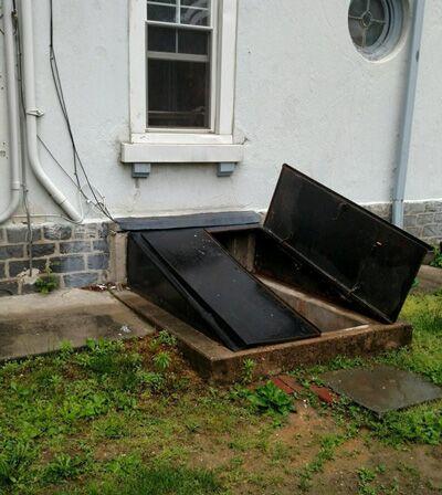 Cellar Door Replacement - Before Photo