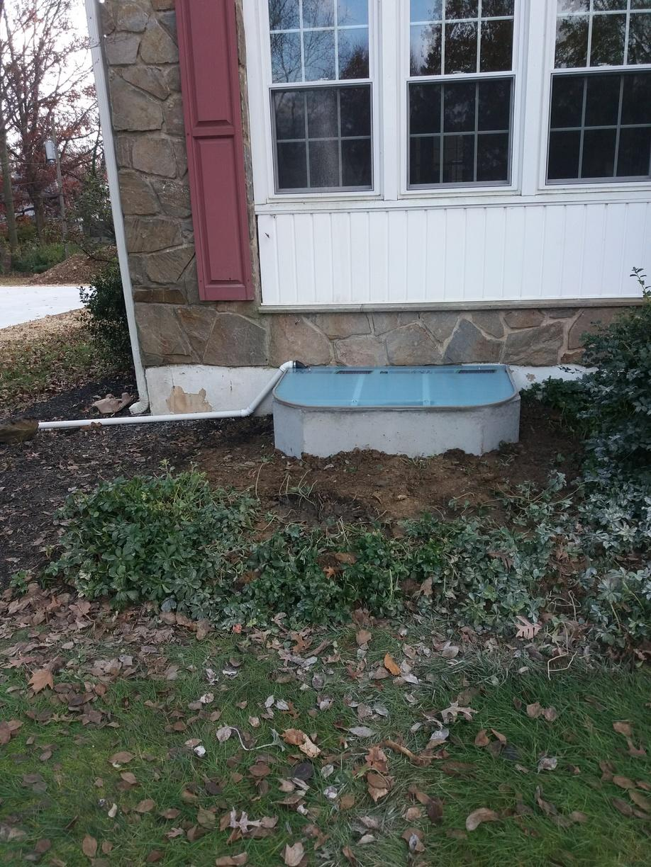 Concrete window well installed in Wilmington, De - After Photo