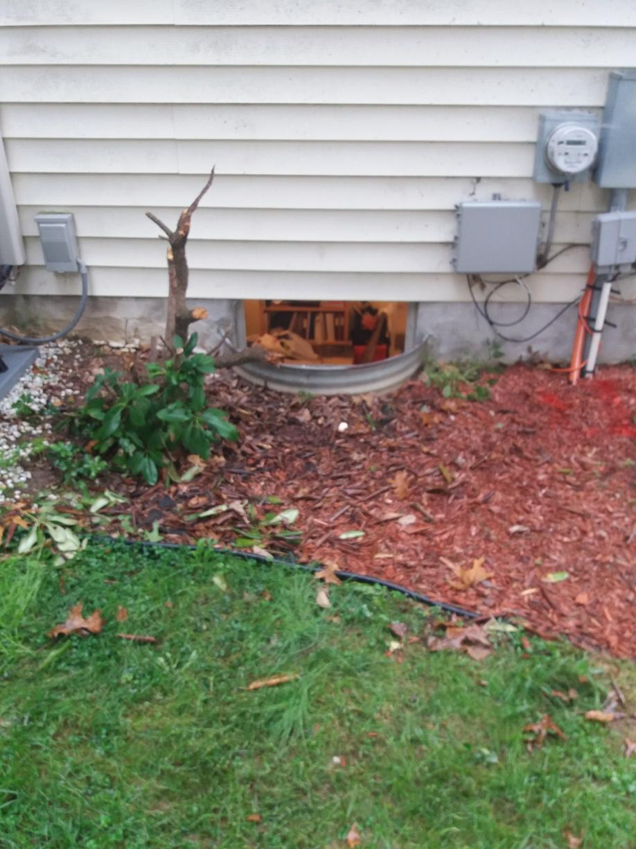 Basement Egress installed in Downingtown, PA - Before Photo