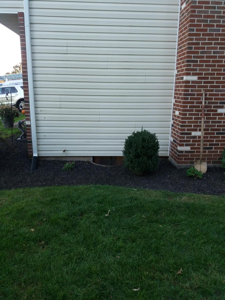 Basement Egress with galvanized top in Collegeville, PA - Before Photo
