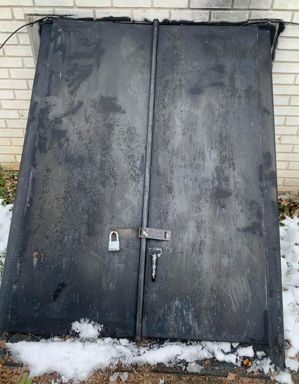 Replaced an Angle Cellar Door in Lancaster, PA - Before Photo