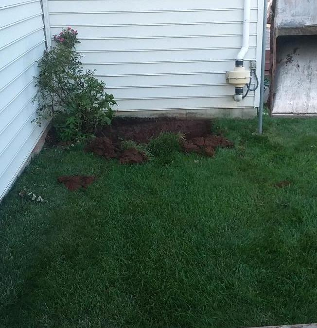 Basement Egress installed in Collegeville, PA - Before Photo