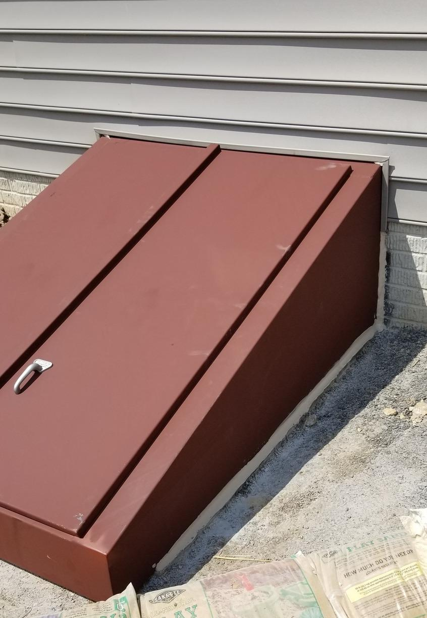 B-Style Angle cellar door installed in Jarretsville, MD - After Photo