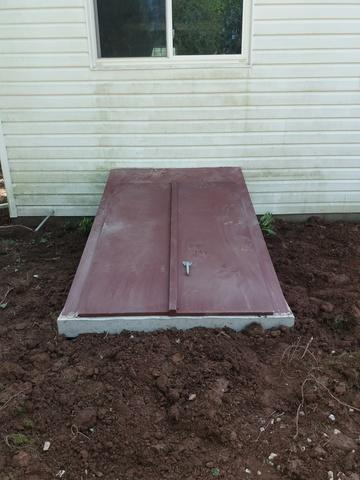 Dig Out of rotting steel unit, replaced with precast concrete in Norristown, PA
