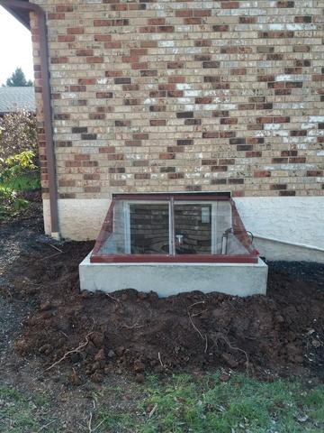 Installation of a Window Well Egress with operable Cover in Pottstown, PA