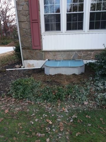 Concrete window well installed in Wilmington, De