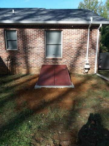 Basement Egress with Galvanized top in Middletown, DE - After Photo