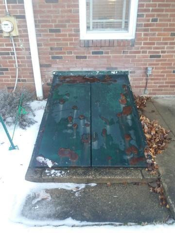 New Galvanized Flat Custom Cellar Door installed in Wayne, PA