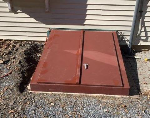B Style Angle cellar door installed in Camden Wyoming, DE
