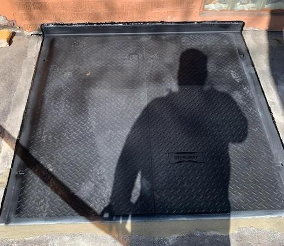 Custom Diamond Plate Sidewalk Door installed in Havertown, PA - After Photo