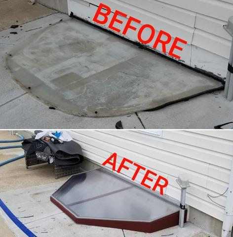 Upgrading a Window Well Cover in Middletown, DE