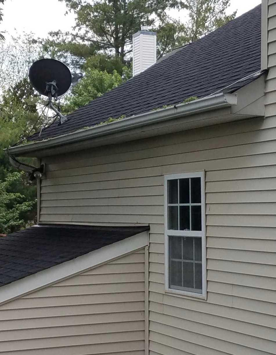 MasterShield Gutter System for home in Ashburn, VA.  - Before Photo