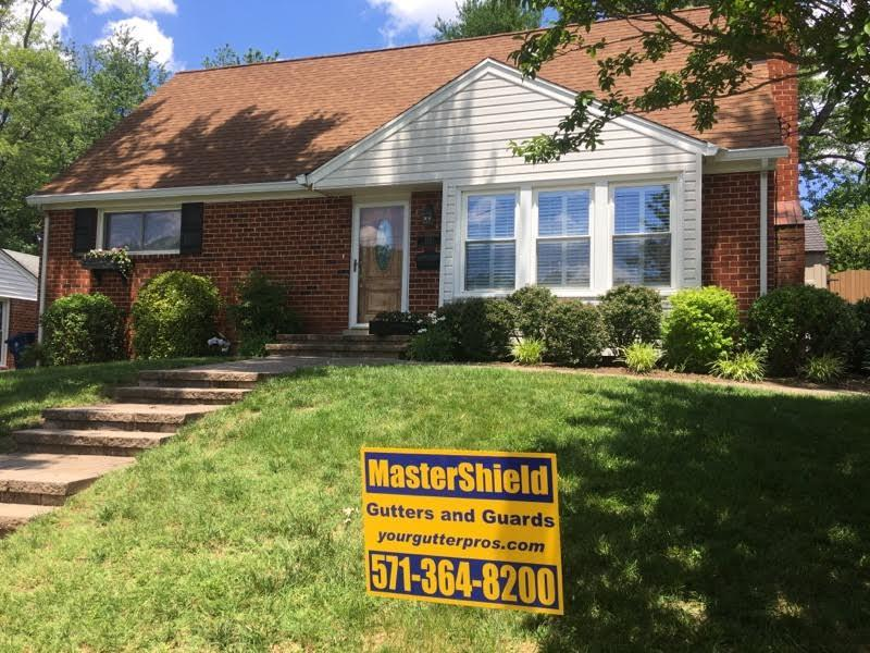MasterShield Gutter Guard Installation in Alexandria, VA. - After Photo