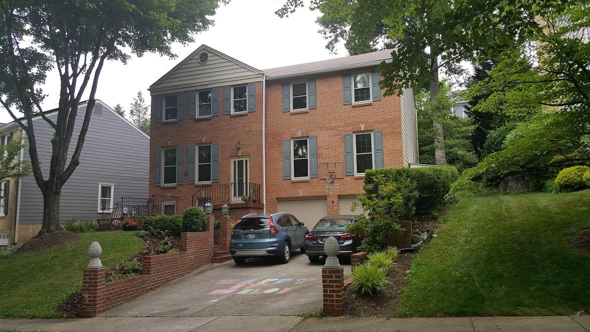 MasterShield Gutter Guard Installation in Chevy Chase, MD - Before Photo