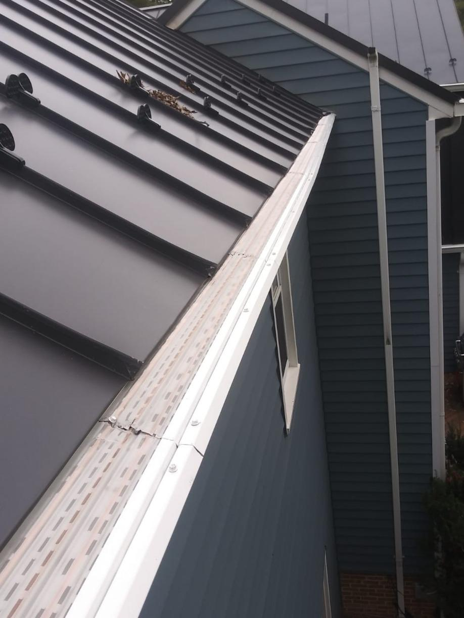 Mclean, VA Home in need of a new, maintenance free gutter system - After Photo