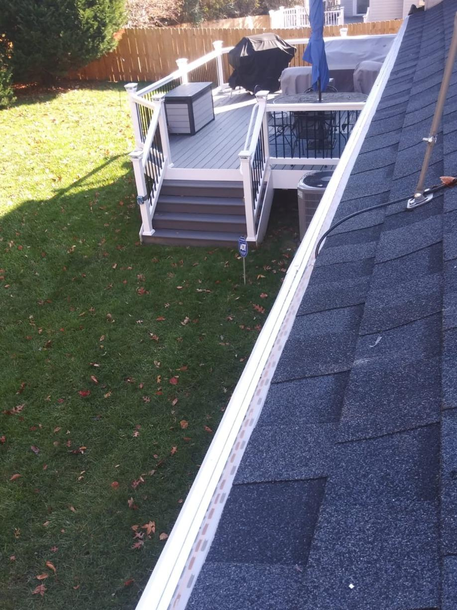 Gutter Guards for zero cleaning.  EVER! - After Photo