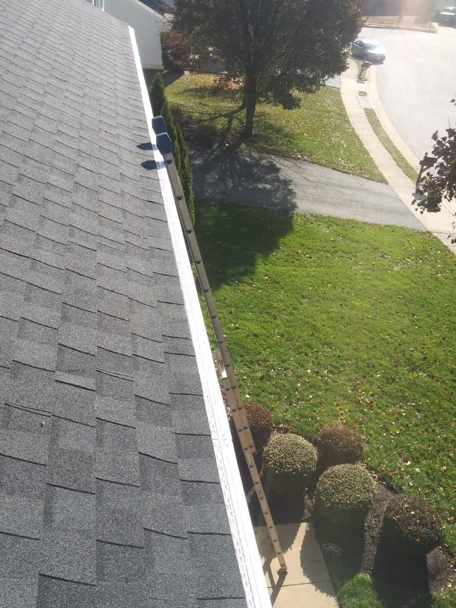 Gutter Guards for zero cleaning.  EVER! - Before Photo