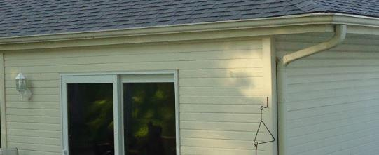 Gutters Installed on Home in Glenwood, IA - Before Photo