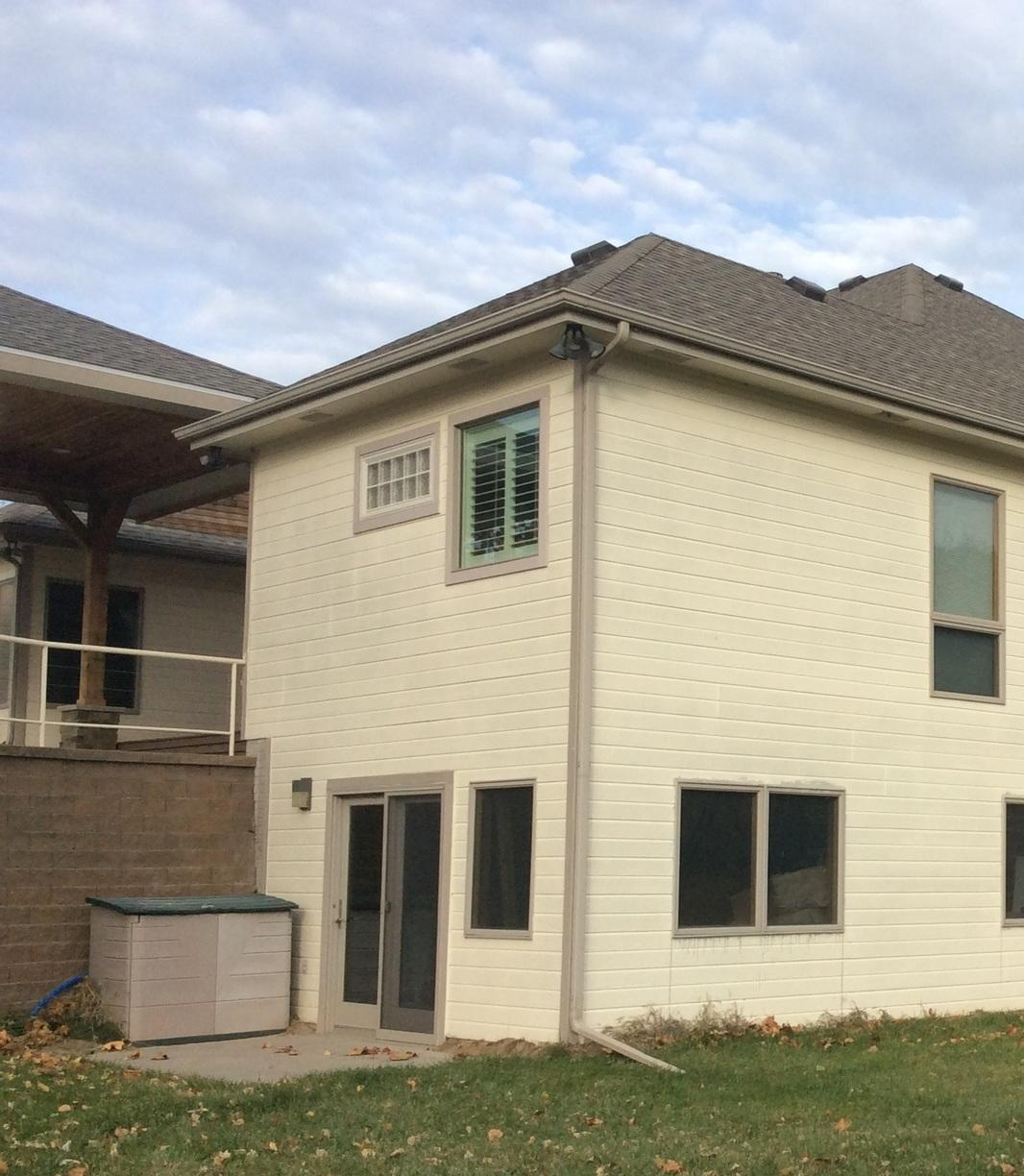 Rain Gutter Installation in Council Bluffs, IA - Before Photo