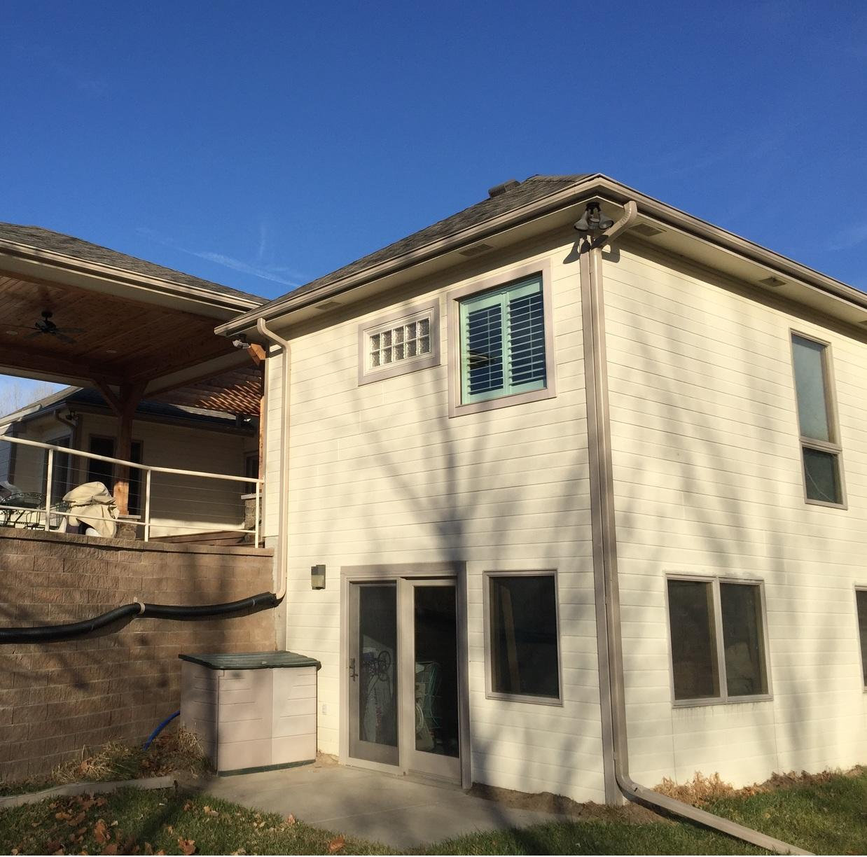 Rain Gutter Installation in Council Bluffs, IA - After Photo