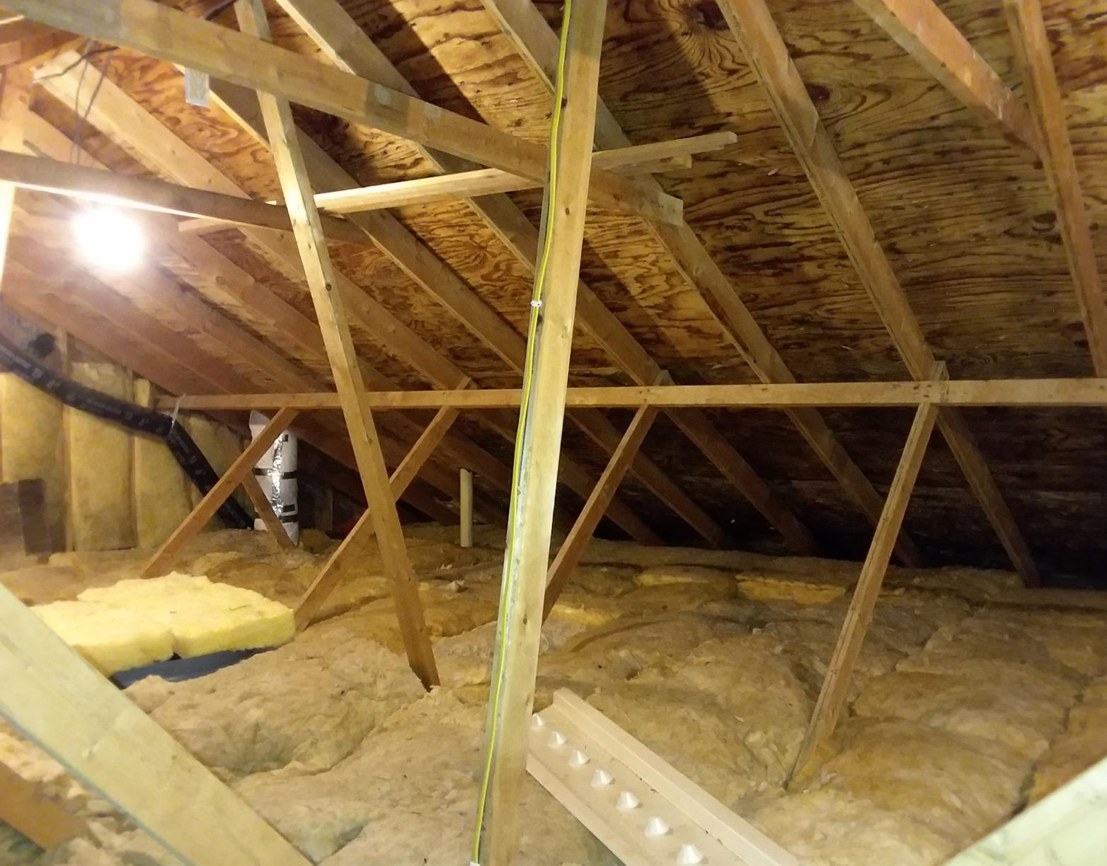 Bellevue Attic Insulation Project - Before Photo