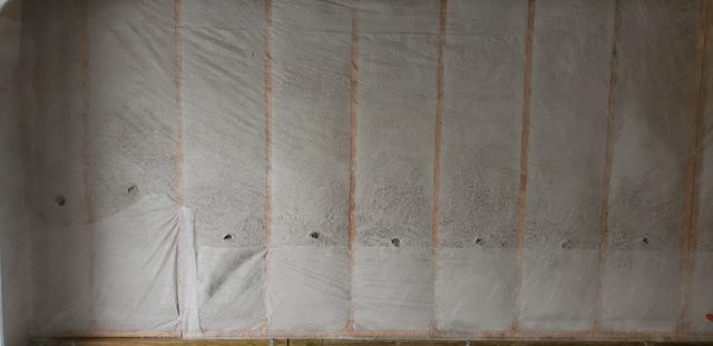 Blown-in Insulation with Bib System Installed in Garage of Omaha, NE
