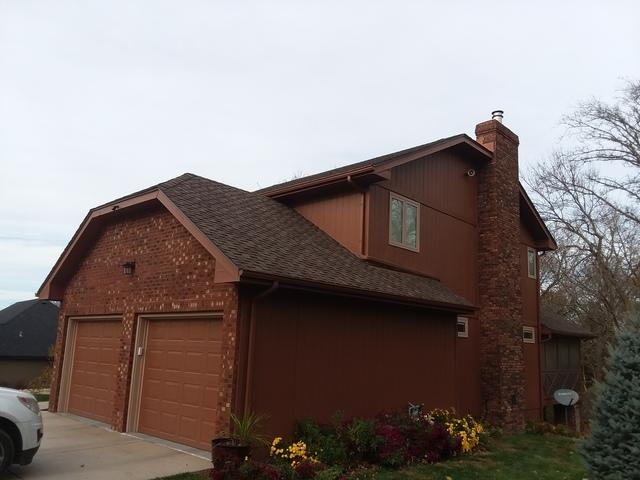 LeafGuard Gutter Installation on garage in Waterloo, NE