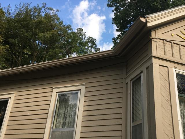 LeafGuard Gutters Installed on home in Council Bluffs, IA - Before Photo
