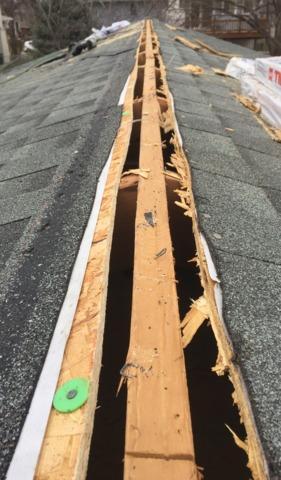 Ridge Ventilation Installed on home in Omaha, NE