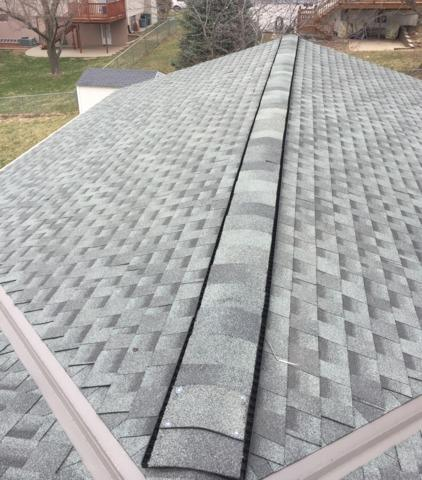Ridge Ventilation Installed on home in Omaha, NE