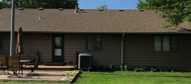 Tan LeafGuard Gutters Installed on home in Arlington, NE