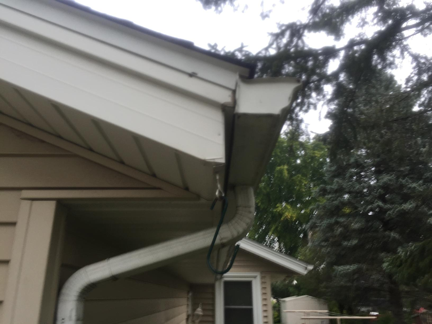 LeafGuard Is Worry Free & Looks Great On This Sun Prairie Home! - Before Photo