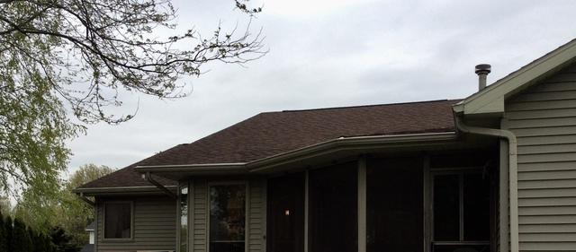 Stoughton Couple Adds LeafGuard Gutters To Their Home - Before Photo