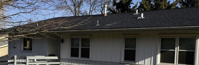 Sun Prairie LeafGuard and GAF Roof Install - Before Photo